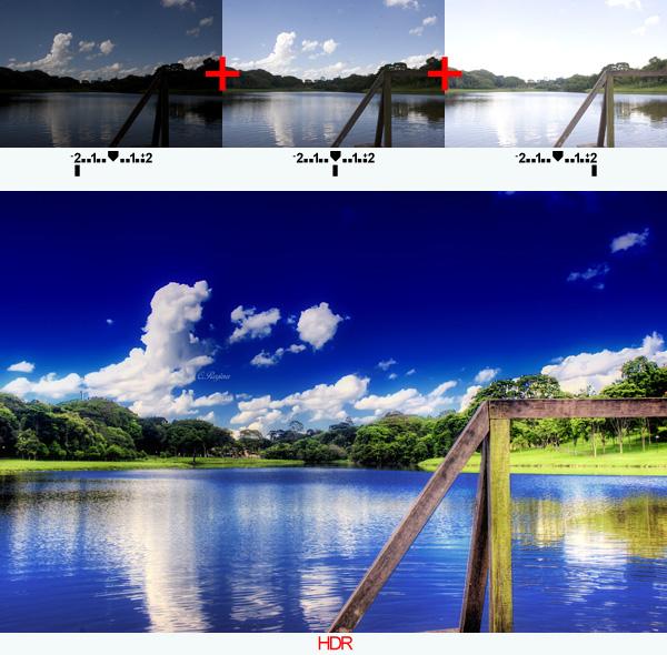 imagem com tempos de exposição diferentes